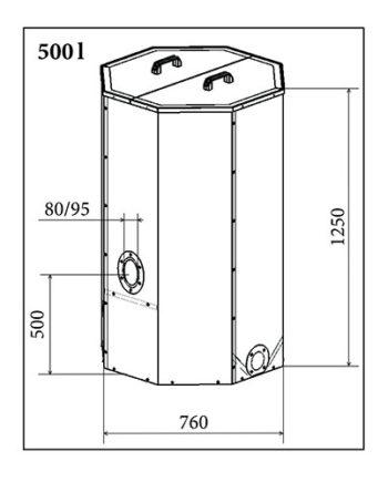 rezervor peleti atmos 500 litri