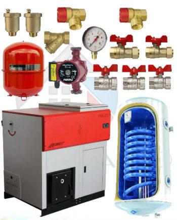 Pachet instalare cazan peleti Lafat 35 kw cu boiler 100