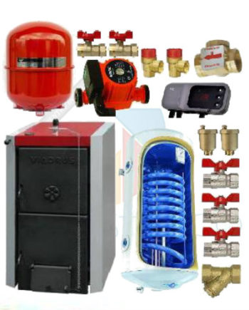 cazan Viadrus 49 kw cu boiler termoelectric de 150 litri