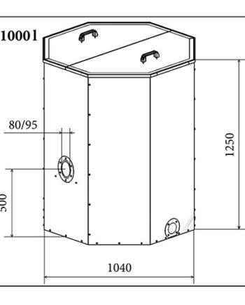 Rezervor peleti Atmos 1000 litri
