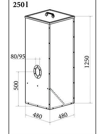 rezervor peleti atmos 250 litri