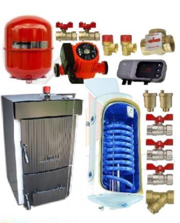 Pachet cazan Dunatech 33 kw cu boiler
